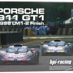 hpi 1/43 ポルシェ911 GT1 ルマンLM 1-2フィニッシュ 1998