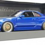 ニスモ R34 GT-R Zチューン ベイサイドブルー