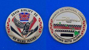 アメリカ軍 204th AIRLIFT SQ NA MANU IKAIKA